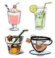 Non alcoholic drinks collection vector image