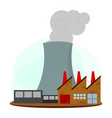 nuclear energy industry vector image