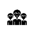 office staff black icon sign on isolated vector image vector image