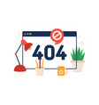 page not found 404 design 404 error web page vector image