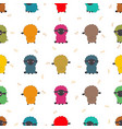 pattern with colored sheep vector image