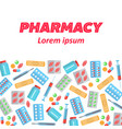 pharmacy poster flat icons vector image vector image
