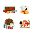 piles realistic casino gamble set vector image vector image