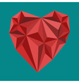 polygon heart sign vector image vector image