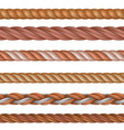 realistic seamless rope and nautical cables vector image vector image