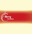 red abstract merry christmas circle banner vector image vector image