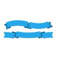 ribbon banner two blue ribbons festive wavy vector image vector image