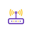 router icon line style vector image vector image