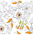 seam flow23sentSeamless background with flowers vector image