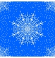 seamless with winter lace snowflake motiv vector image vector image