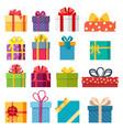 set of christmas gift box vector image vector image