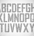 Set of Circuit board style letters vector image