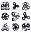 set of nine spinner vector image vector image