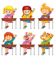 set student answer question vector image vector image
