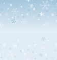Snowflakes abstract background vector image vector image