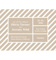 striped invitation vector image