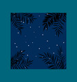 summer night tropical background with palm leaves vector image vector image
