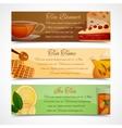 Tea banners set vector image vector image