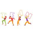 team text design vector image vector image