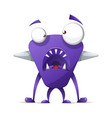 terrible cute monster - cartoon characters vector image vector image