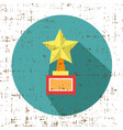 trophy star winner award retro grunge style icon vector image vector image