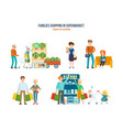 walking in shopping center procurement of goods vector image vector image