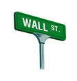 wall street sign in new york vector image vector image