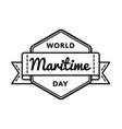 world maritime day greeting emblem vector image vector image