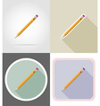 stationery flat icons 06 vector image