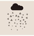 Acid rain and radioactive cloud flat vector image