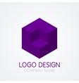 logo design cube vector image