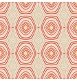 Retro pattern with oval shapes in 1950s style vector image