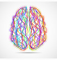 abstract human brain colorful striples and vector image vector image