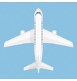 airplane in air vector image vector image