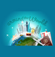 around the wotld concept with logo travel vector image vector image