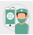 avatar medical doctor vector image