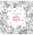 Awesome Happy Easter card in vector image