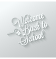 back to school paper cut lettering background vector image
