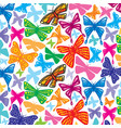 background pattern with butterflies icons vector image vector image