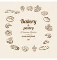 Bakery sketch with text vector image vector image