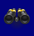 black binocular on a blue background white vector image vector image