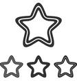 Black line pentagram logo design set vector image vector image