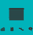 blinds icon flat vector image vector image