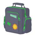boy school bag icon cartoon style vector image vector image