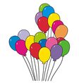 bright colorful balloons vector image vector image