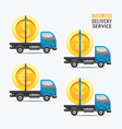 Business delivery service money design concept