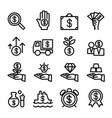 business financial investment icon set vector image vector image