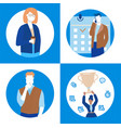 business situations - set of flat design style vector image vector image