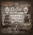 cafe or coffee house design on wooden texture vector image vector image