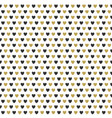 celebration seamless pattern with gold hearts vector image vector image